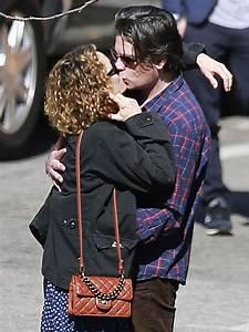 Johnny Depp's Ex Vanessa Paradis Kisses Boyfriend Benjamin ...