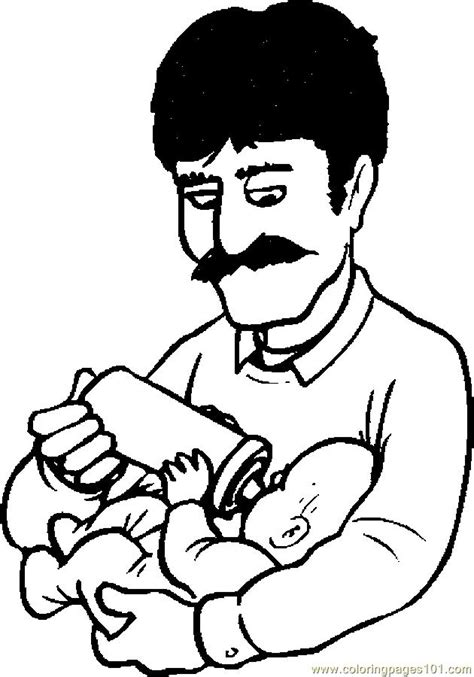 dad coloring page az coloring pages