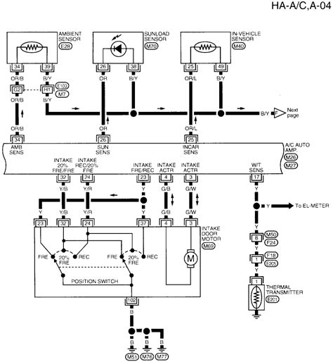 find  wiring diagram    altima ac system