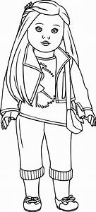 American Girl Doll Coloring Pictures #2839