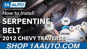 How To Replace Serpentine Belt 09-13 Chevy Traverse