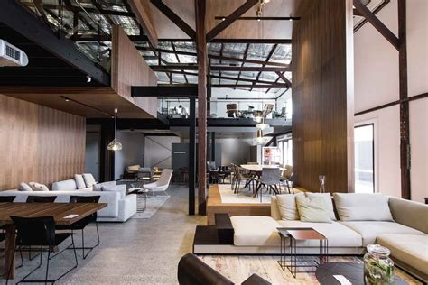living edge sydney showroom designed  woods bagot