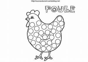 Poule Pour Paques : poules pour gommettes colorier et en couleur ~ Zukunftsfamilie.com Idées de Décoration