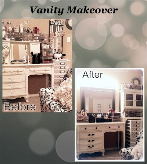 makeup mirror with lights diy makeup vanity transformation paint the knobs black