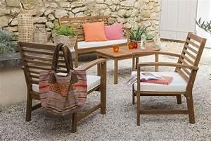 Salon Bas De Jardin Bois : un salon bas de jardin acacia bois marron leroy merlin ~ Teatrodelosmanantiales.com Idées de Décoration