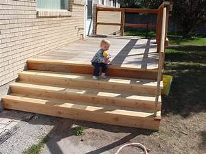 Building Wood Outdoor Stairs - Modern Patio & Outdoor
