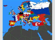Flag Map of Europe Colored by Political Subdivisions X