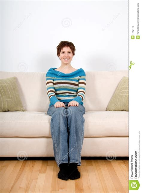 woman  sofa royalty  stock images image
