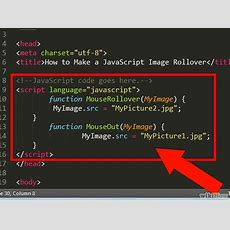 How To Make A Javascript Image Rollover (with Pictures