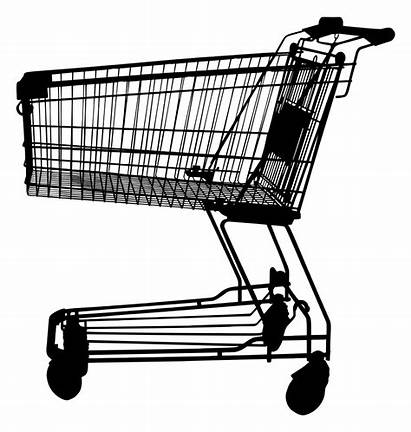 Shopping Cart Clipart Silhouette Clip Transparent Supermarket