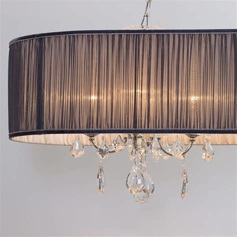 chandelier l shade l amour 8 light chandelier in pleated shade grey