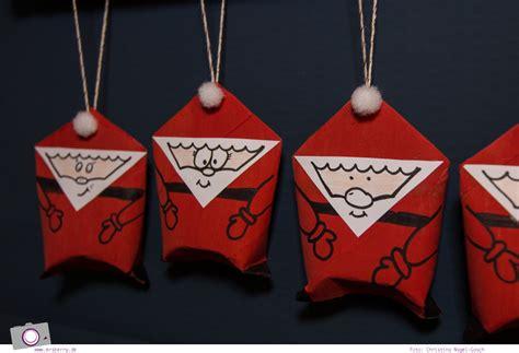 weihnachtsmann selber basteln adventskalender selber machen weihnachten aus klorollen