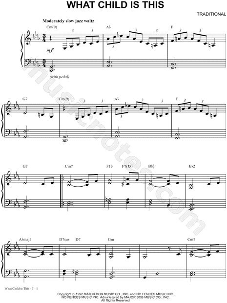 vince guaraldi trio what child is this vince guaraldi trio quot what child is this quot sheet music