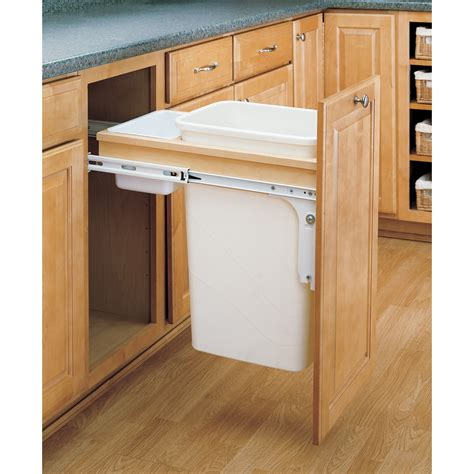 Rev A Shelf Garbage by Rev A Shelf 50 Quart Plastic Pull Out Trash Can At Lowes