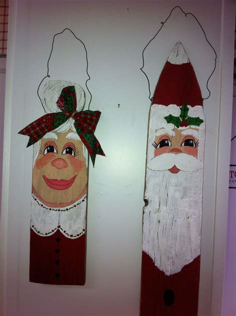painted   fence boards xmas crafts fence board