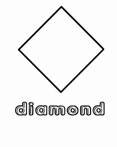 Diamond Shape Shapes Coloring Preschool Pages Worksheets