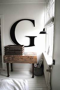 wall letters decor design pinterest With oversized letters for wall art