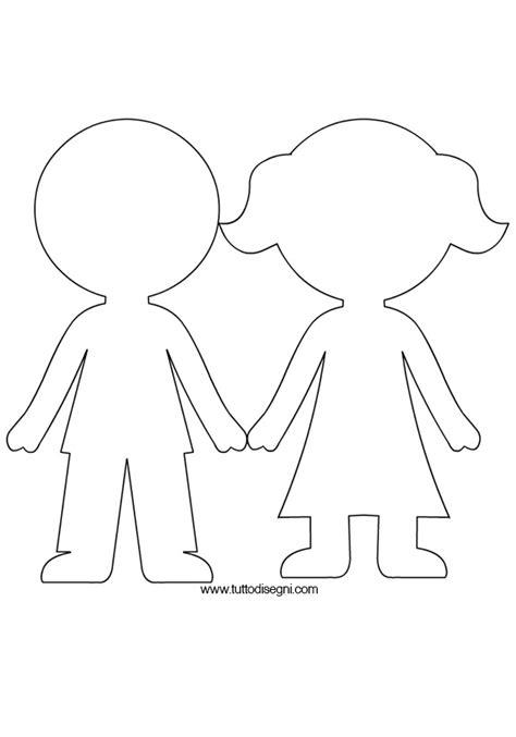 sagoma bambini tuttodisegni 804 | sagoma bambini