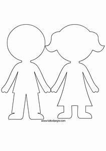 Sagoma bambini tuttodisegnicom for Person template preschool