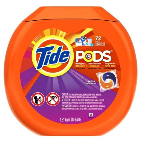 laundry detergent pods shop tide pods 72 count spring meadow high efficiency laundry detergent at lowes com