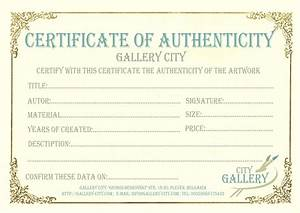 gallery city certificate of authenticity With free printable certificate of authenticity templates
