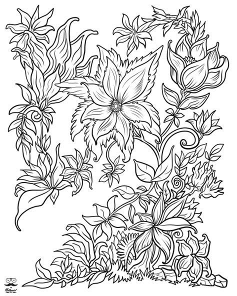 flower coloring books floral digital version coloring book