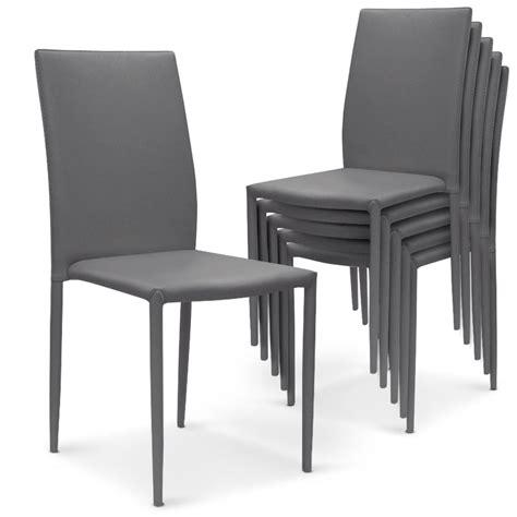 chaise cuir gris chaise simili cuir gris maison design modanes com