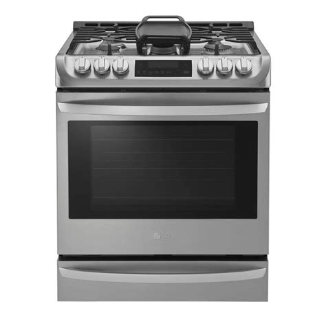 lg electronics 6 3 cu ft slide in gas range with probake convection oven in stainless steel