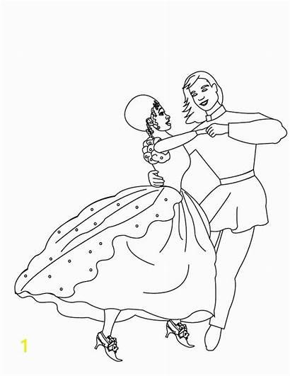 Coloring Pages Dancing Barbie Princesses Couple Dancing3