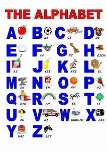 alphabet englishlearning1 With pictures of letters ofthe alphabet