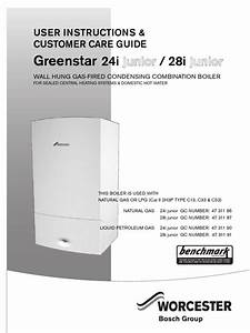 User Manual For Greenstar I Junior Manufactured From Aug