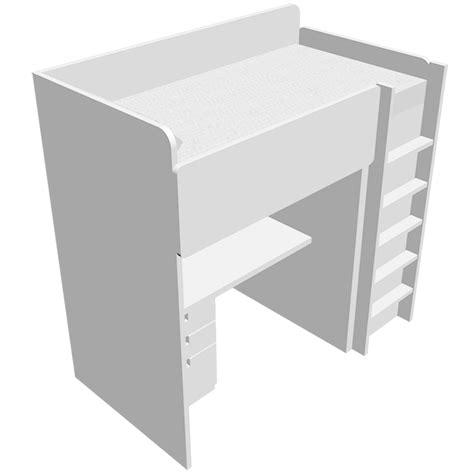 bureau mezzanine ikea bim objekt stuva 1 bed mezzanine bed with wardrobe and
