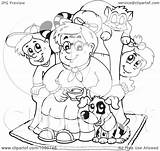 Pets Children Coloring Granny Clip Visekart Royalty Illustration Rf Clipart 2021 sketch template