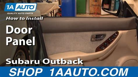 install replace remove door panel subaru outback