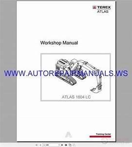Terex Atlas 1804 Lc Hydraulic Excavator Workshop Manual