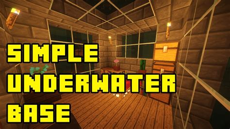 simple  minecraft underwater house tutorial youtube
