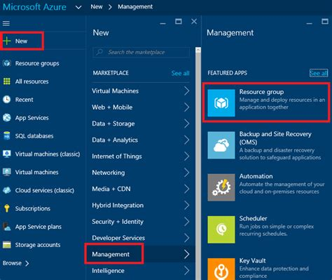 azure resource manager template use azure portal to deploy azure resources microsoft docs