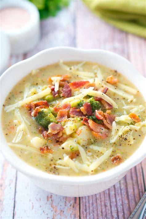 light potato soup loaded broccoli and potato soup delicious meets healthy