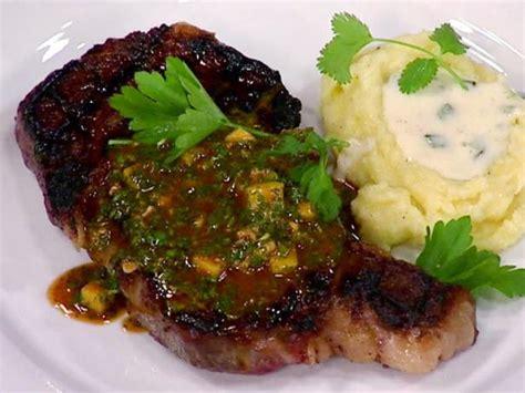 grilled rib eye steak  mango chimichurri recipe