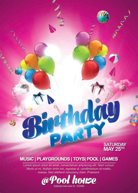 spectacular birthday flyer templates  eps psd