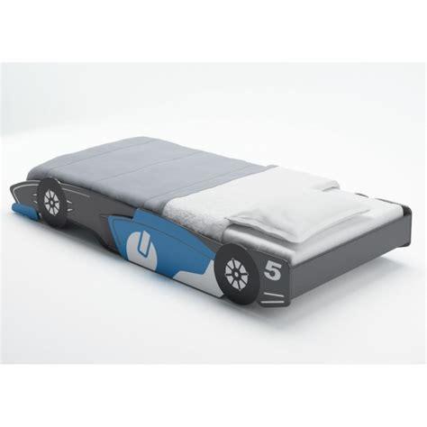 monter ordinateur de bureau fast lit enfant voiture gris et bleu 90x190 200cm achat