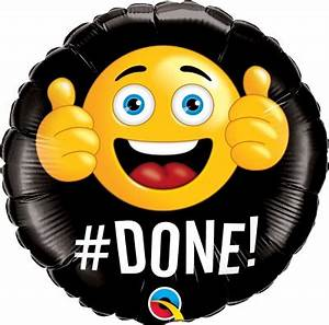 "#DONE Emoji Balloon 18"" - Ronjo Magic, Costumes and Party Shop"