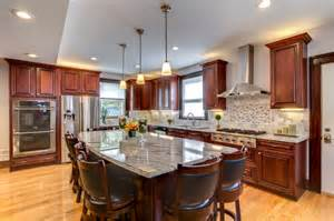 kitchen ideas with cherry cabinets viscont white granite countertops with cherry cabinets