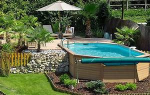 above ground pool oval sizes pool design ideas With awesome idee terrasse exterieure contemporaine 9 amenager votre cour leroy merlin
