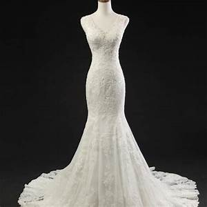 mermaid lace wedding dressescourt train sequins bridal With luulla wedding dresses