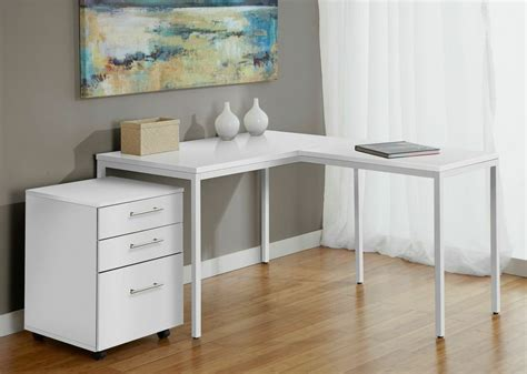 white table l shade benefit l shaped desk with file drawers with 21 famous