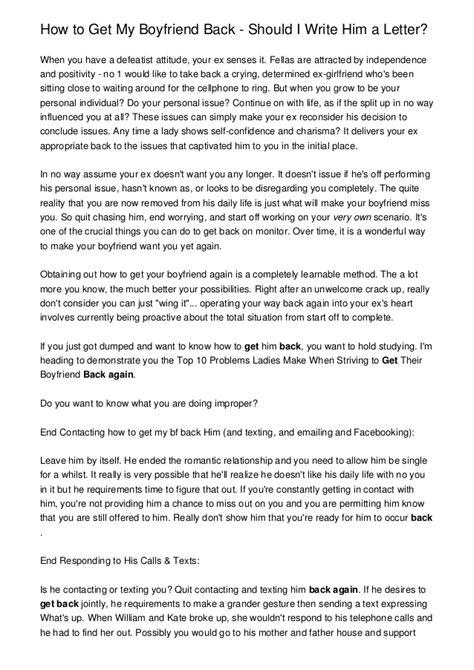 boyfriend    write   letter