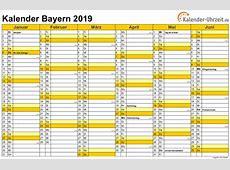 Feiertage 2019 Bayern + Kalender