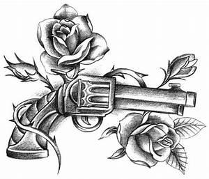 gun and roses tattoo | tattoo ideas | Pinterest | Guns ...