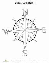 Compass Rose Coloring Map Worksheet Maps Printable Grade Pages Worksheets Education Activities Learning 3rd Skills Adult Tattoos Teaching Template Craft sketch template